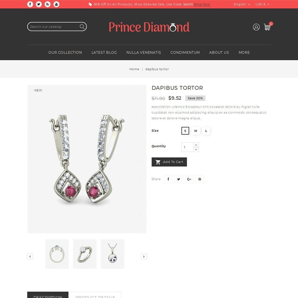 theme - Bijoux & Accessoires - Prince Diamond - The Jewelry Store - 6