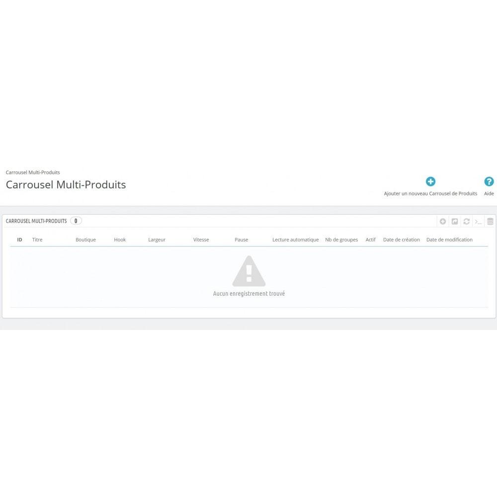 module - Sliders & Galeries - Carrousel Multi-Produits - 5