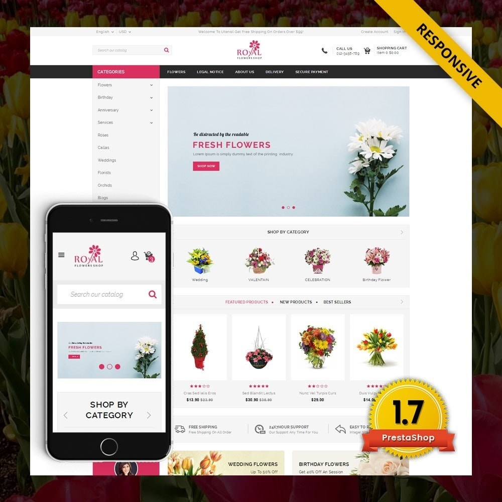 theme - Gifts, Flowers & Celebrations - Royal - Flower Store - 1