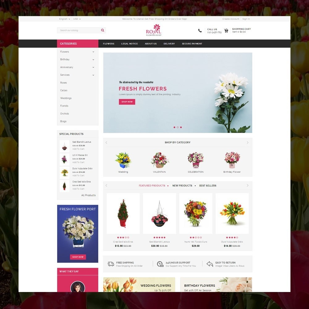 theme - Cadeaux, Fleurs et Fêtes - Royal - Flower Store - 2