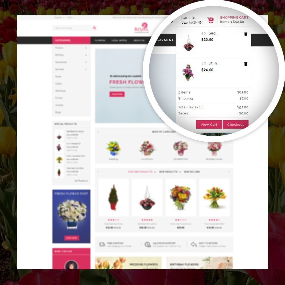 theme - Gifts, Flowers & Celebrations - Royal - Flower Store - 6