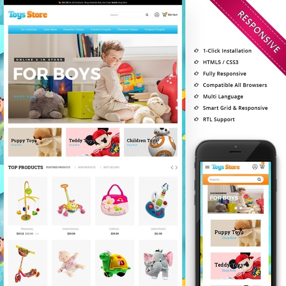 theme - Дети и Игрушки - Toys Store - The Children Shop - 1