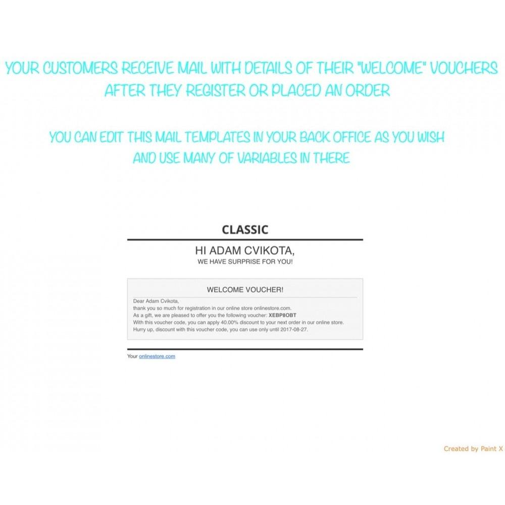 module - Promotions & Cadeaux - Voucher automatique après l'inscription ou la commande - 4