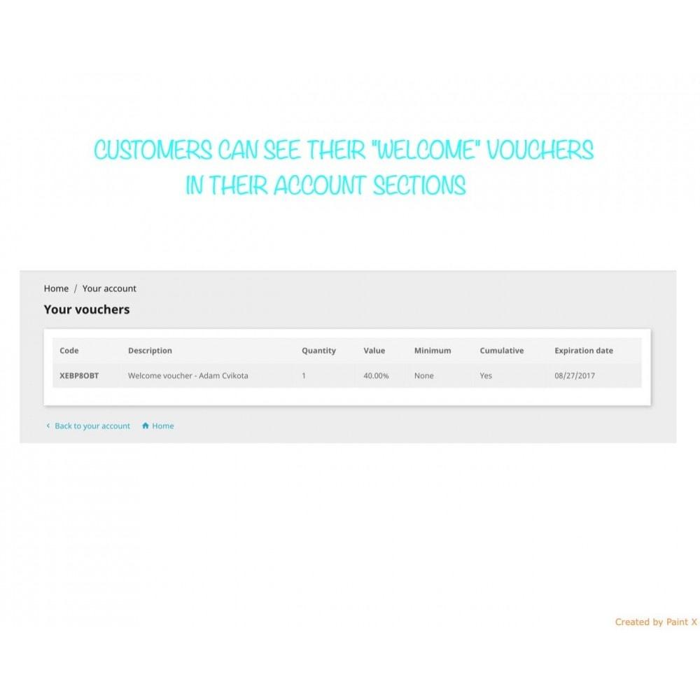 module - Promotions & Cadeaux - Voucher automatique après l'inscription ou la commande - 5