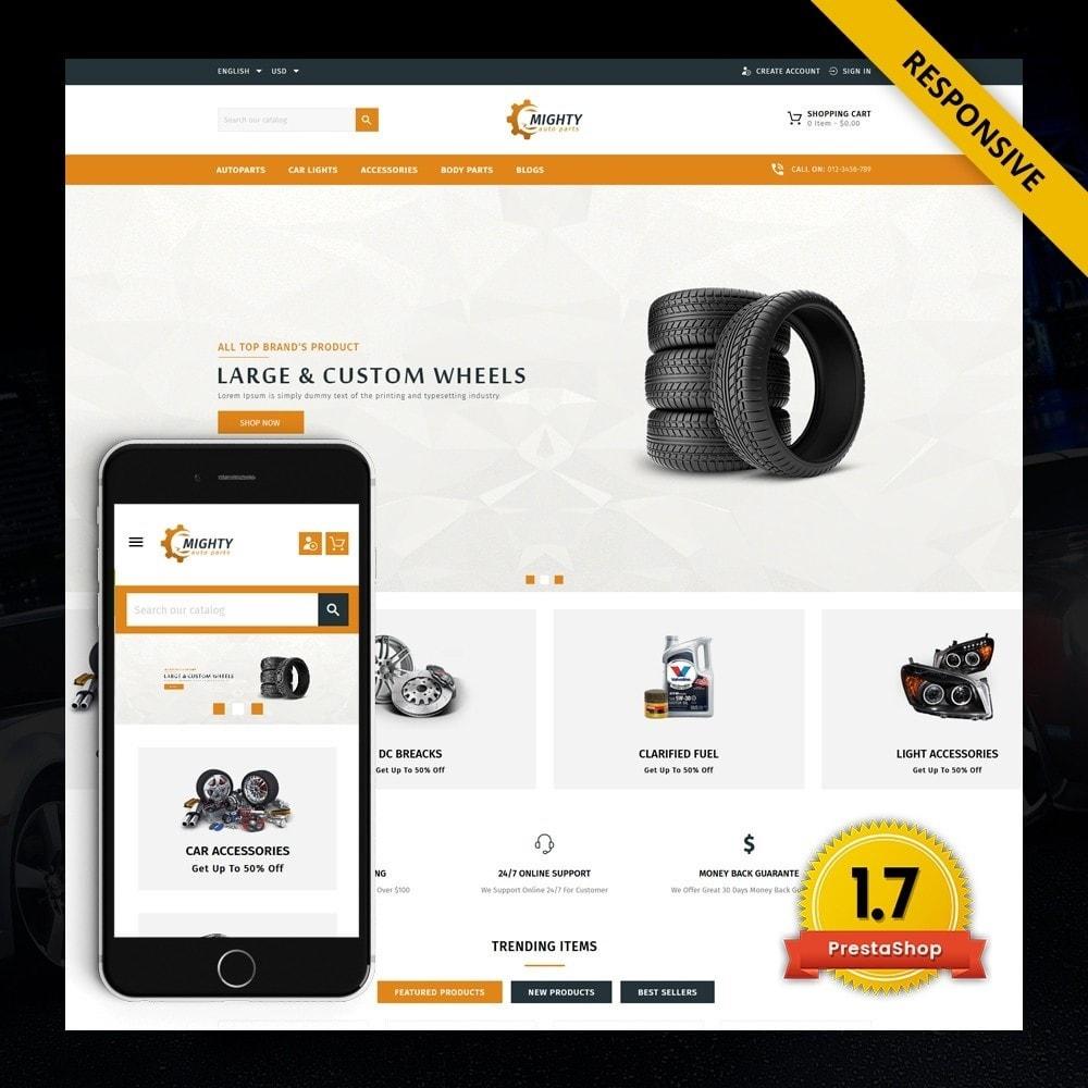 theme - Coches y Motos - Mighty - Autoparts Shop - 1