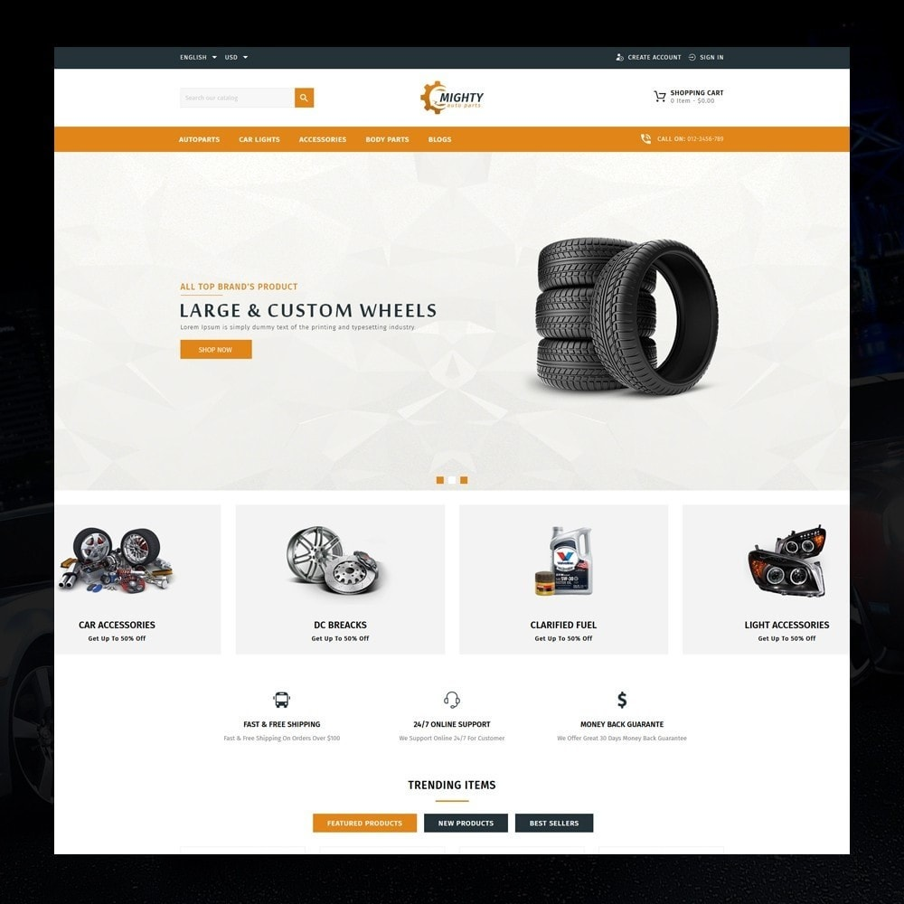 theme - Auto's & Motoren - Mighty - Autoparts Shop - 2