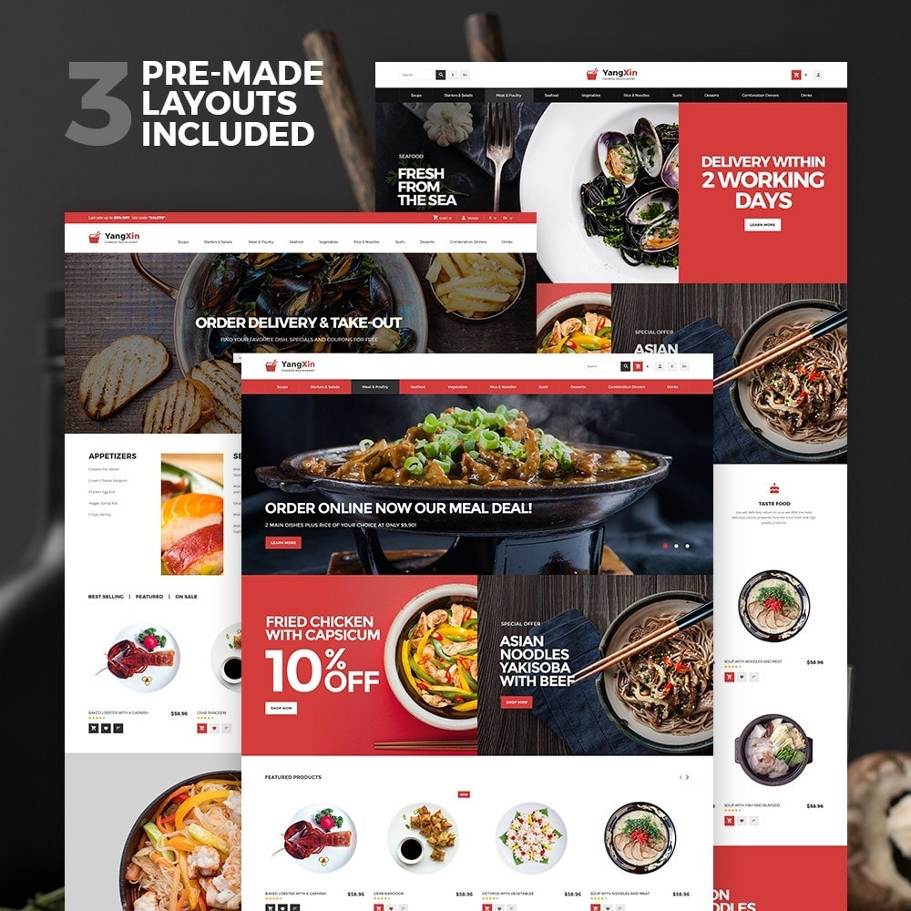 theme - Cibo & Ristorazione - YangXin - Chinese Restaurant - 2