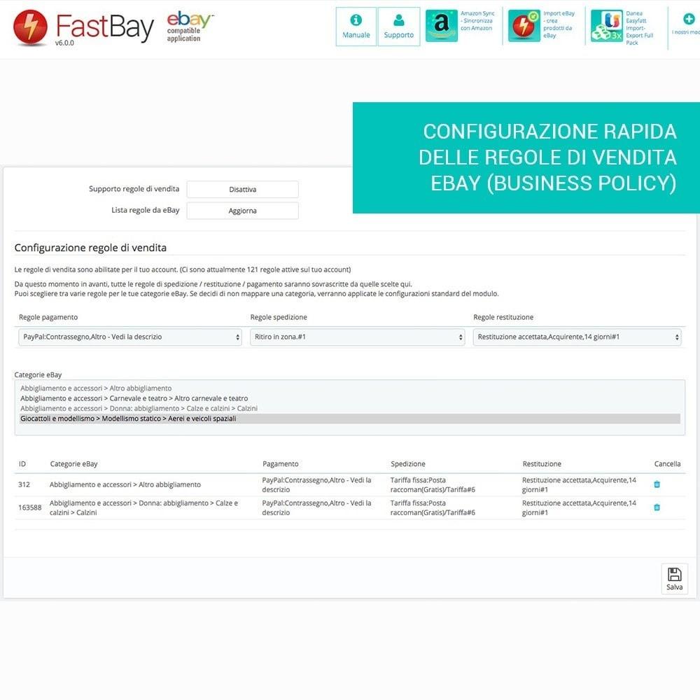 module - Marketplace - Fastbay - sincronizzazione con eBay Marketplace - 12