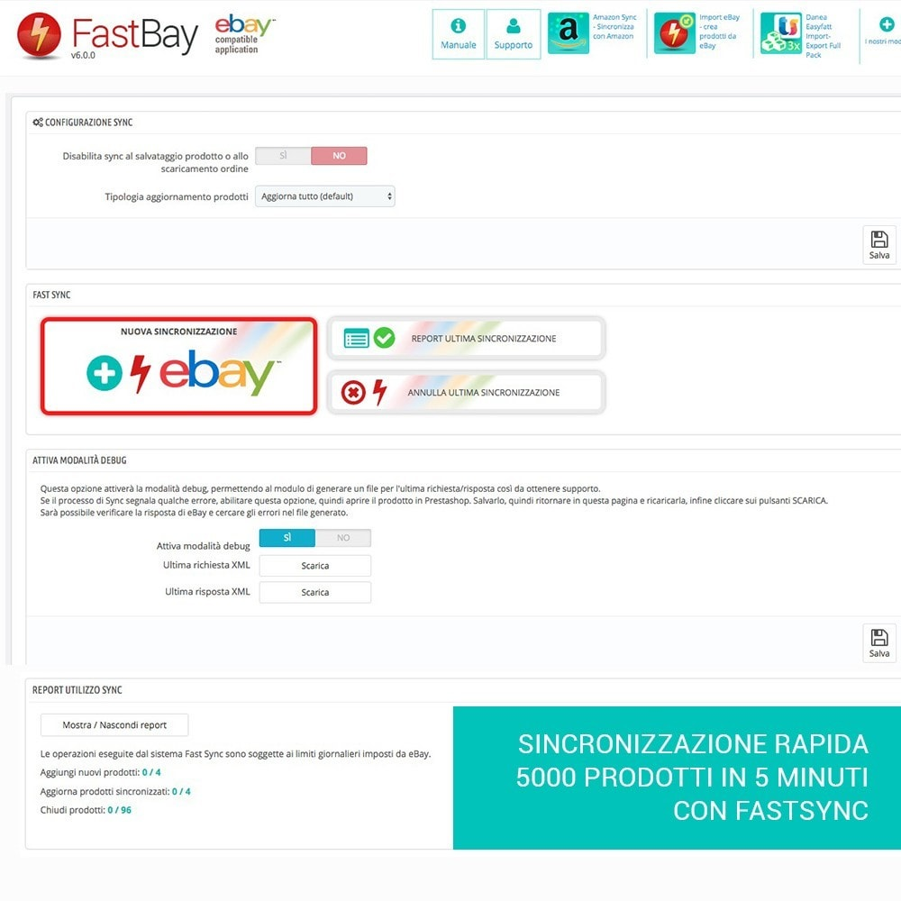 module - Marketplace - Fastbay - sincronizzazione con eBay Marketplace - 13