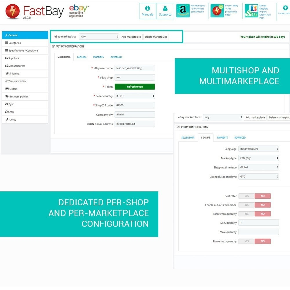 module - Marketplaces - FastBay - eBay Marketplace synchronization - 3
