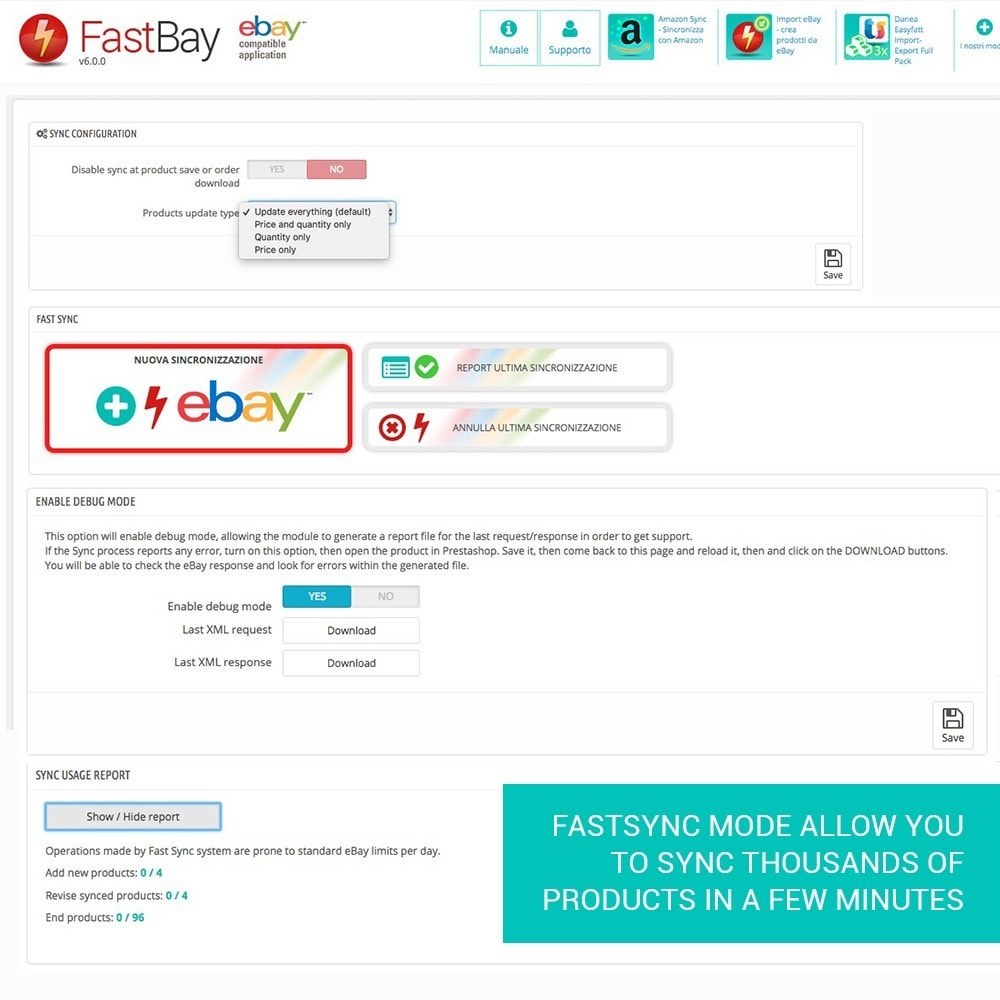 module - Marketplaces - FastBay - eBay Marketplace synchronization - 12