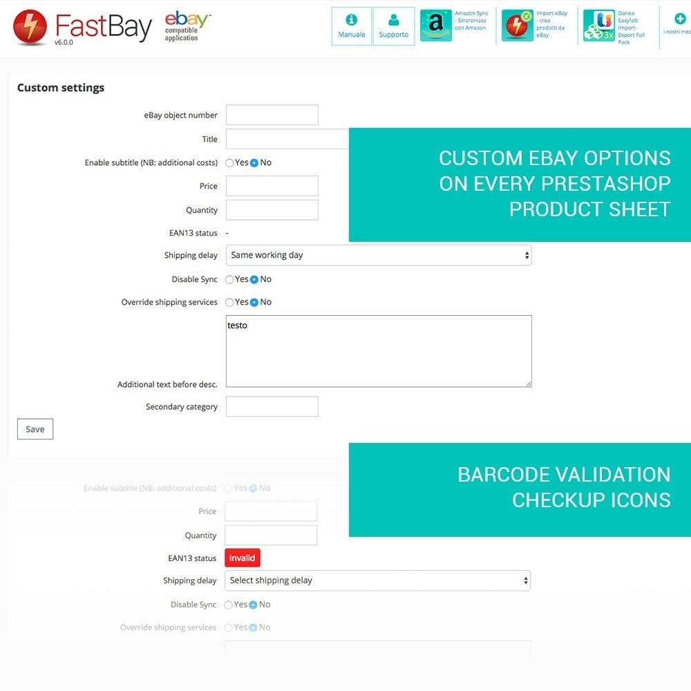 module - Marketplaces - FastBay - eBay Marketplace synchronization - 15