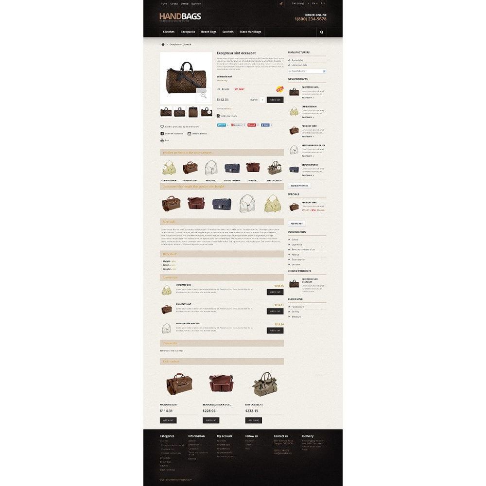 theme - Fashion & Shoes - Responsive Handbags Store - 6