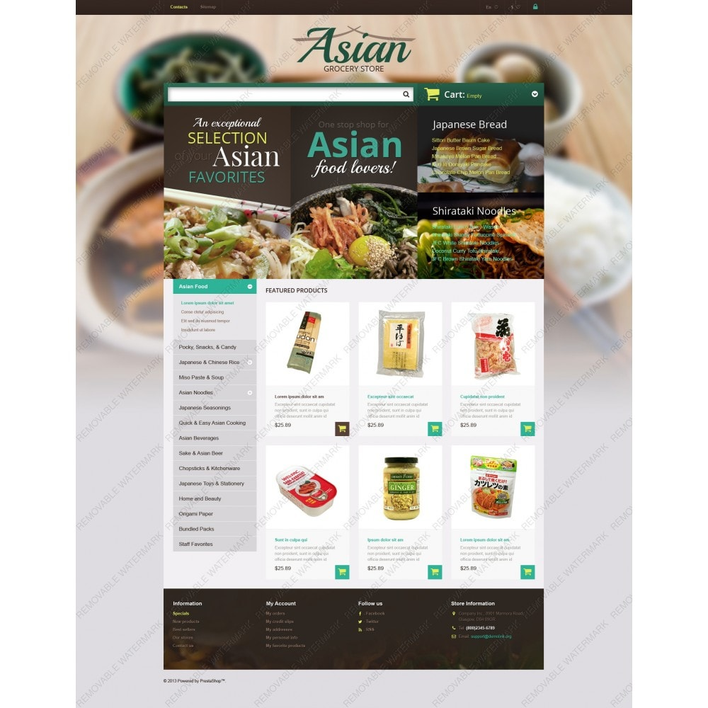 theme - Продовольствие и рестораны - Asian Grocery Store - 3