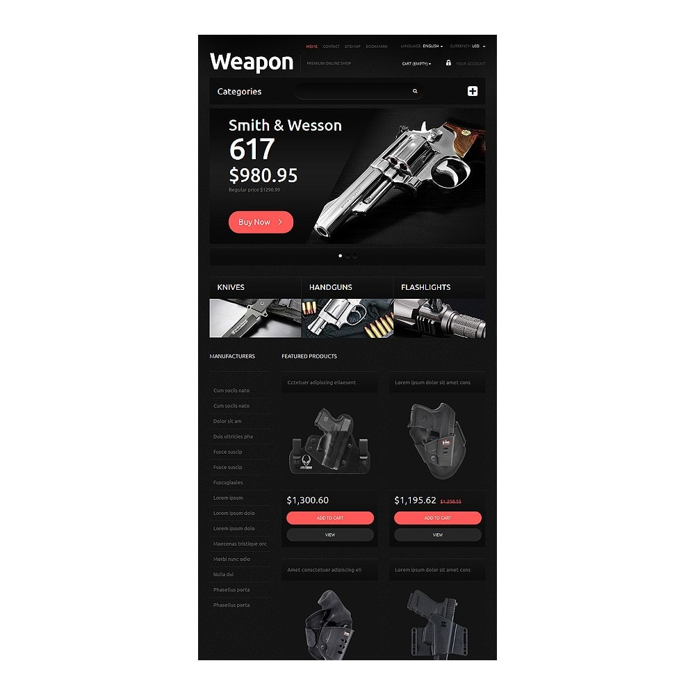 theme - PrestaShop Szablony - Weapons for SelfDefense - 8