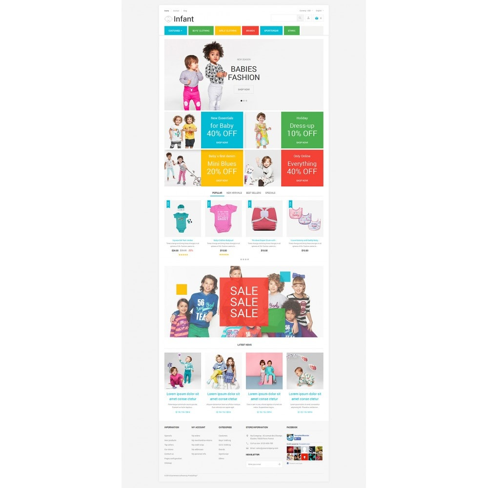 theme - Дом и сад - Infant Clothing Store - 2