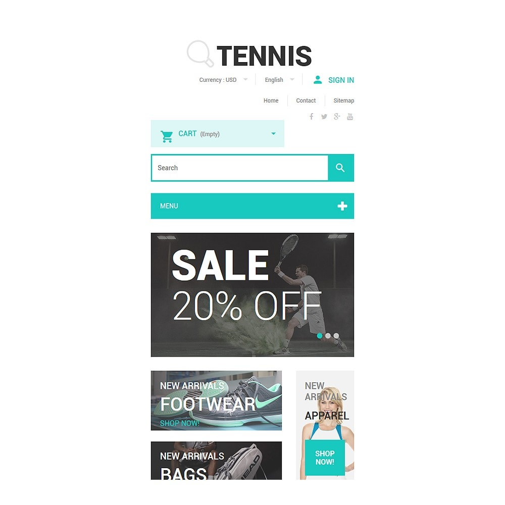 theme - Sport, Attività & Viaggi - Tennis Accessories Store - 8