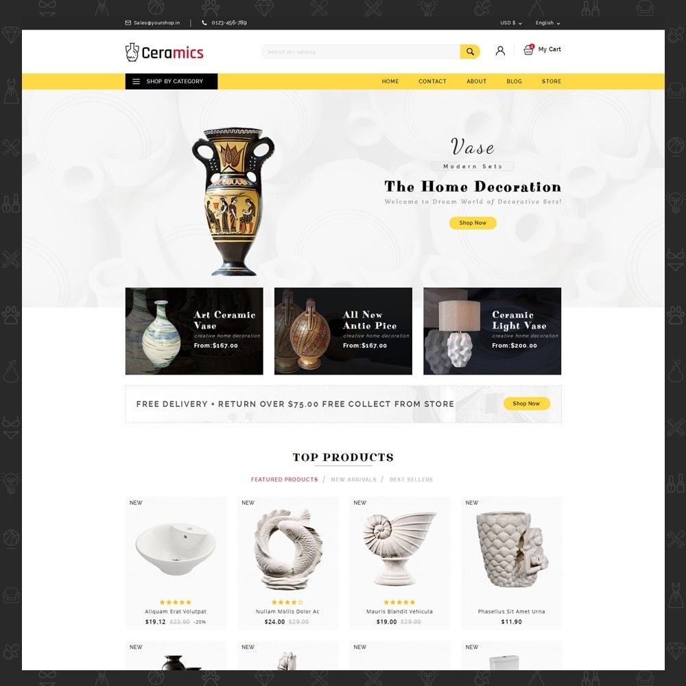 theme - Art & Culture - Ceramic Art Store - 2