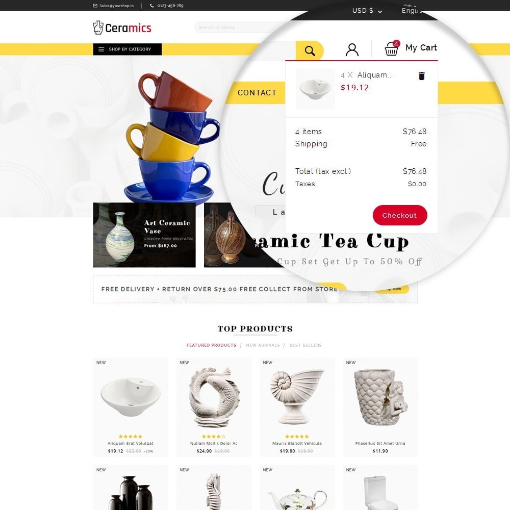 theme - Art & Culture - Ceramic Art Store - 10