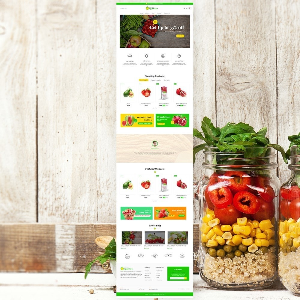 theme - Food & Restaurant - Organic vegetable store - 2