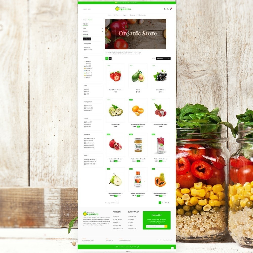 theme - Food & Restaurant - Organic vegetable store - 3