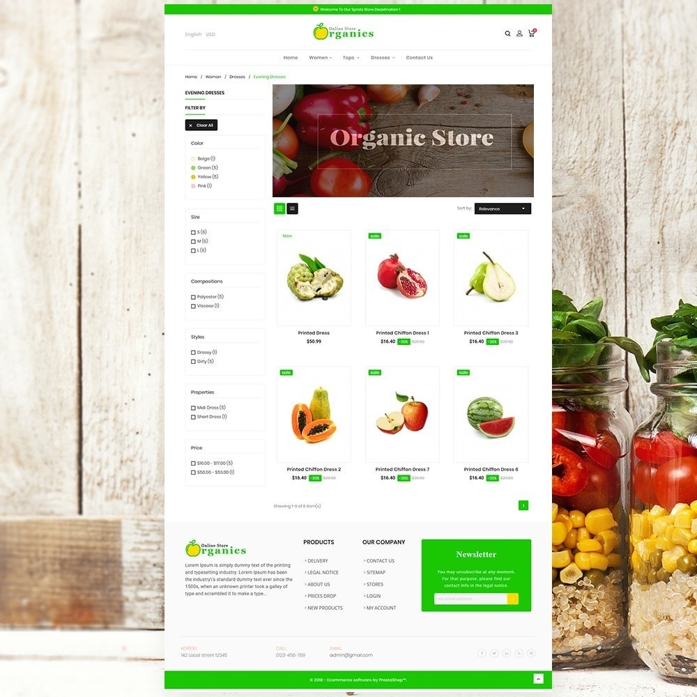 theme - Food & Restaurant - Organic vegetable store - 4