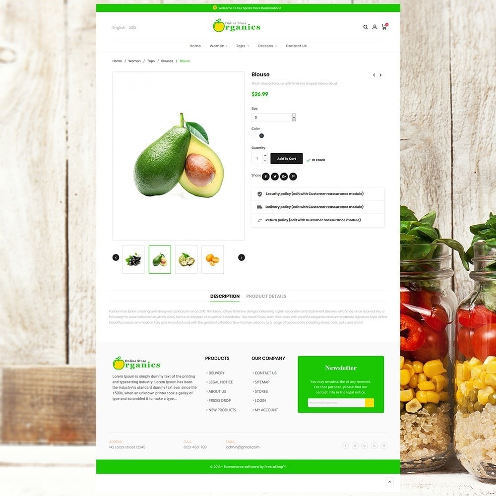 theme - Food & Restaurant - Organic vegetable store - 5