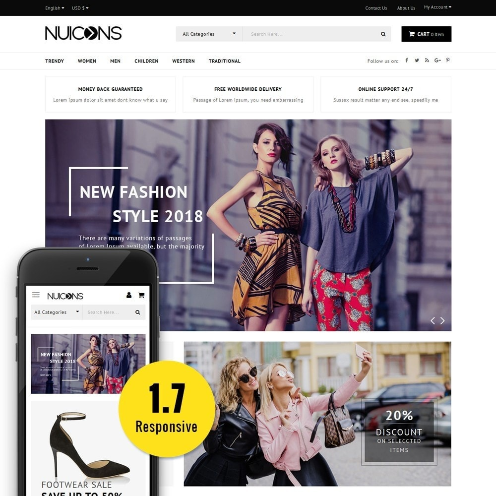 theme - Mode & Schoenen - Nuicons Fashion Store - 1
