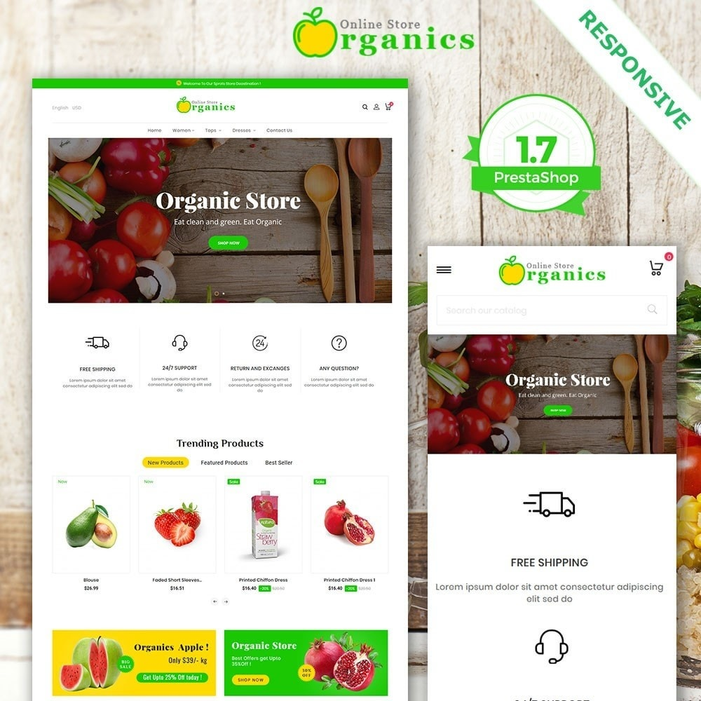 theme - Żywność & Restauracje - Organic vegetable store - 2