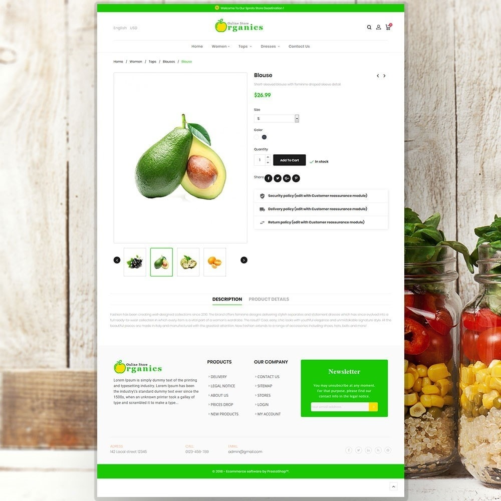 theme - Żywność & Restauracje - Organic vegetable store - 6