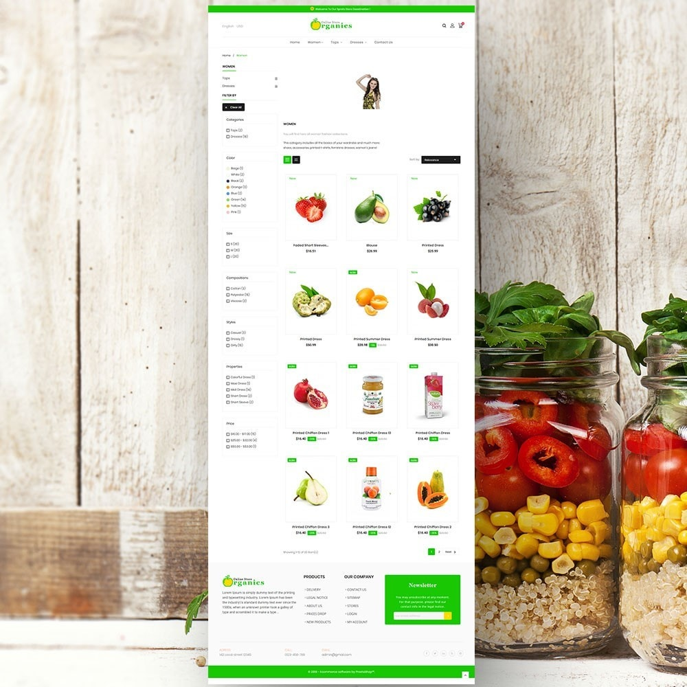 theme - Продовольствие и рестораны - Organic vegetable store - 4