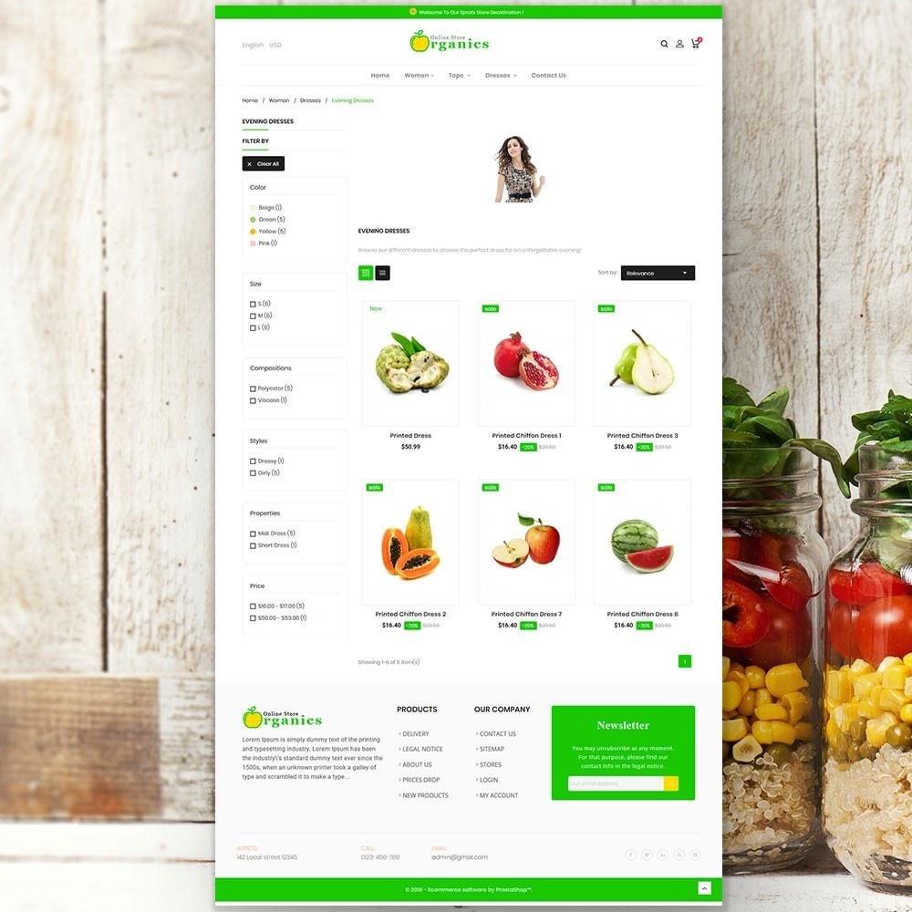theme - Продовольствие и рестораны - Organic vegetable store - 5