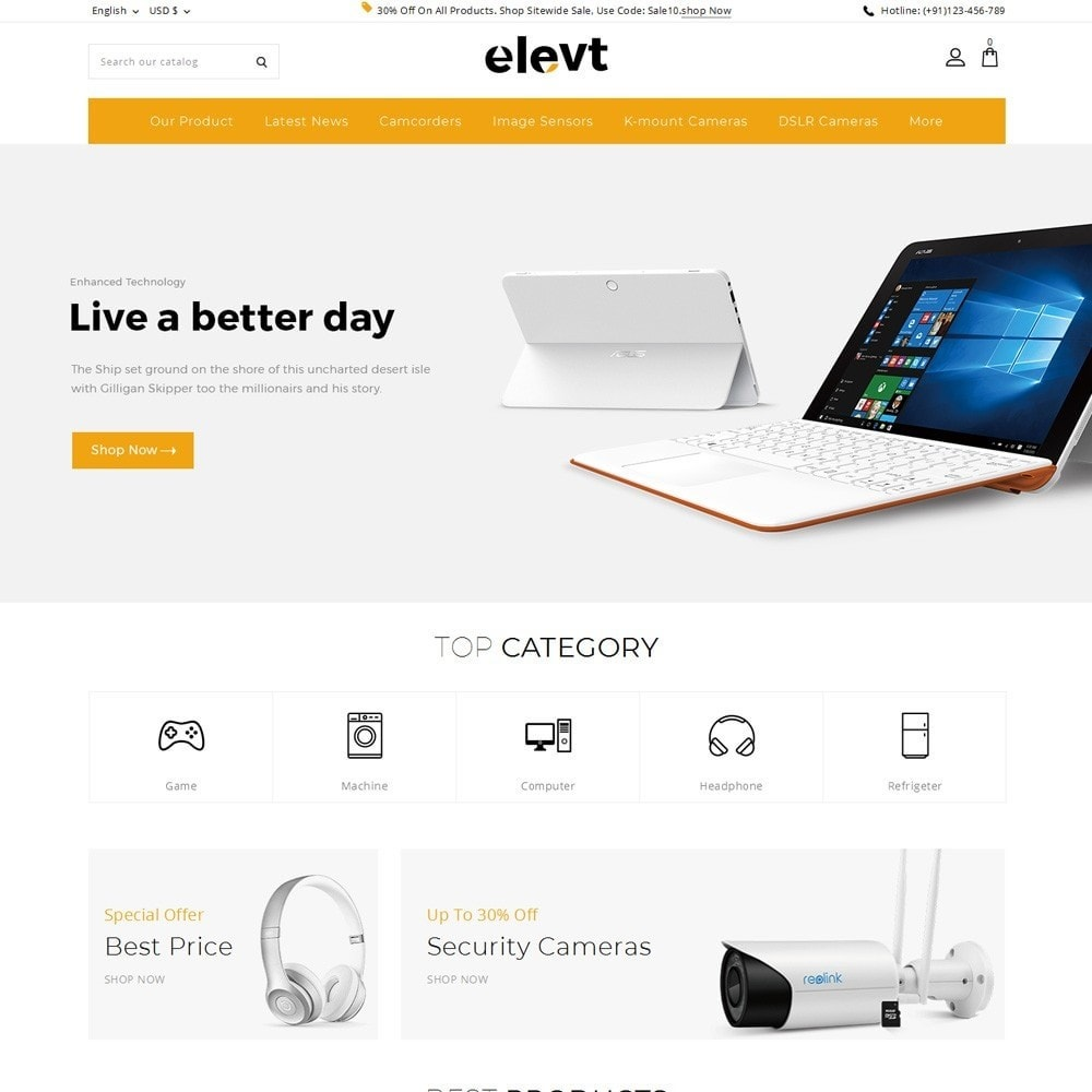 theme - Electronics & Computers - Elevt - The Electronic Store - 2