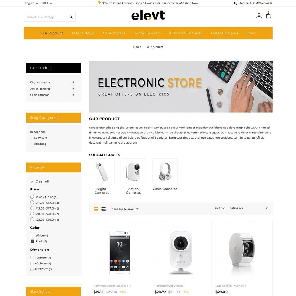 theme - Electronique & High Tech - Elevt - The Electronic Store - 4