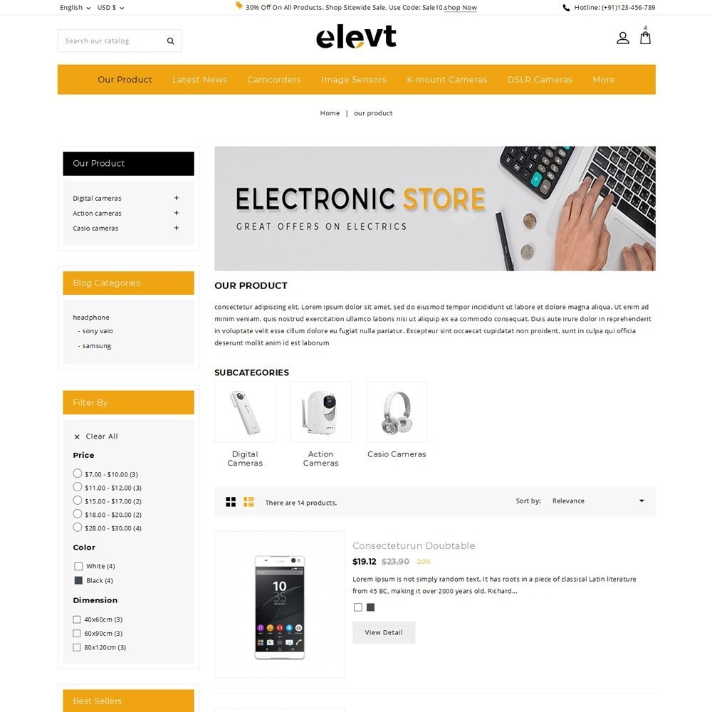 theme - Electronique & High Tech - Elevt - The Electronic Store - 5