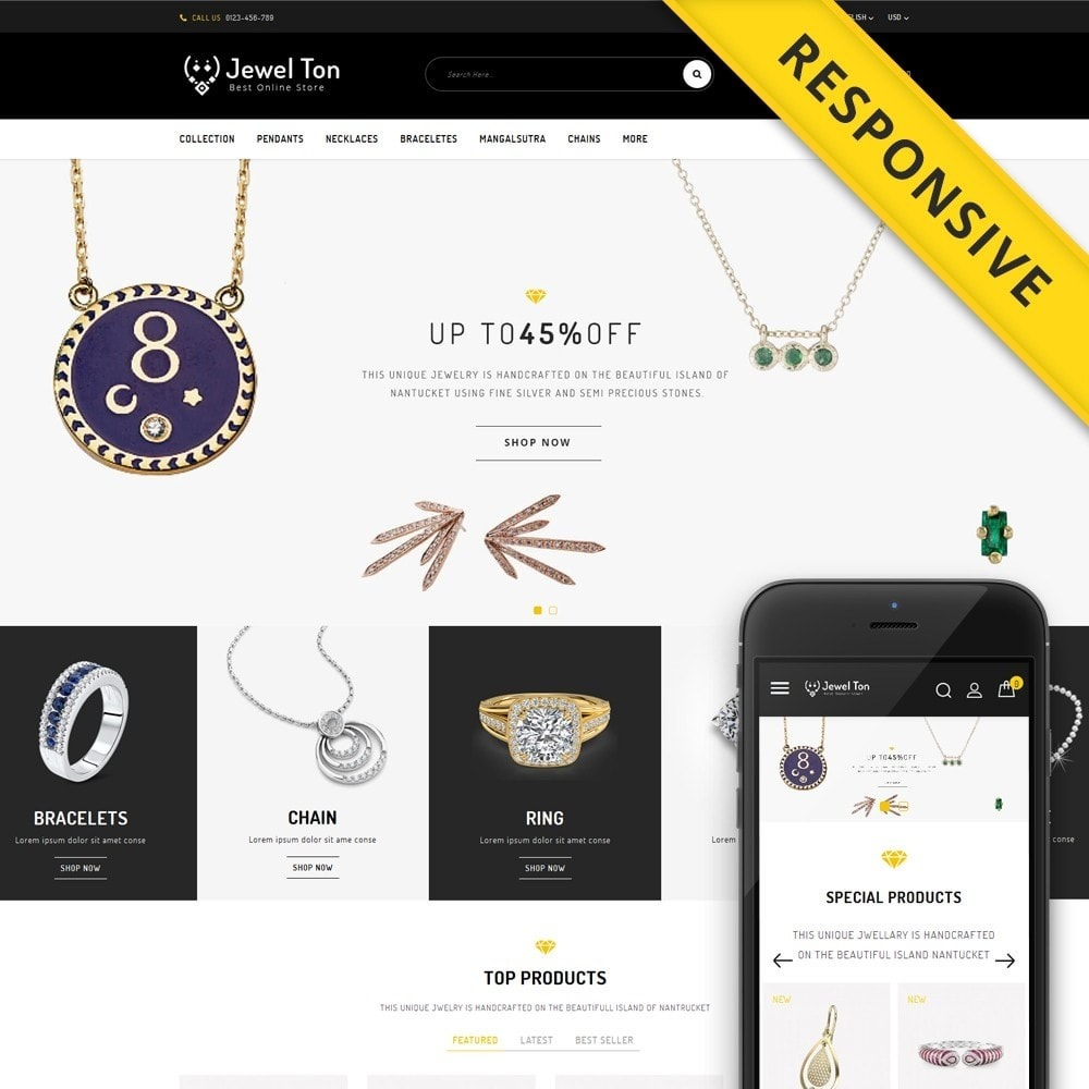 theme - Schmuck & Accesoires - Jewel Ton - Jewelry Online Store - 1