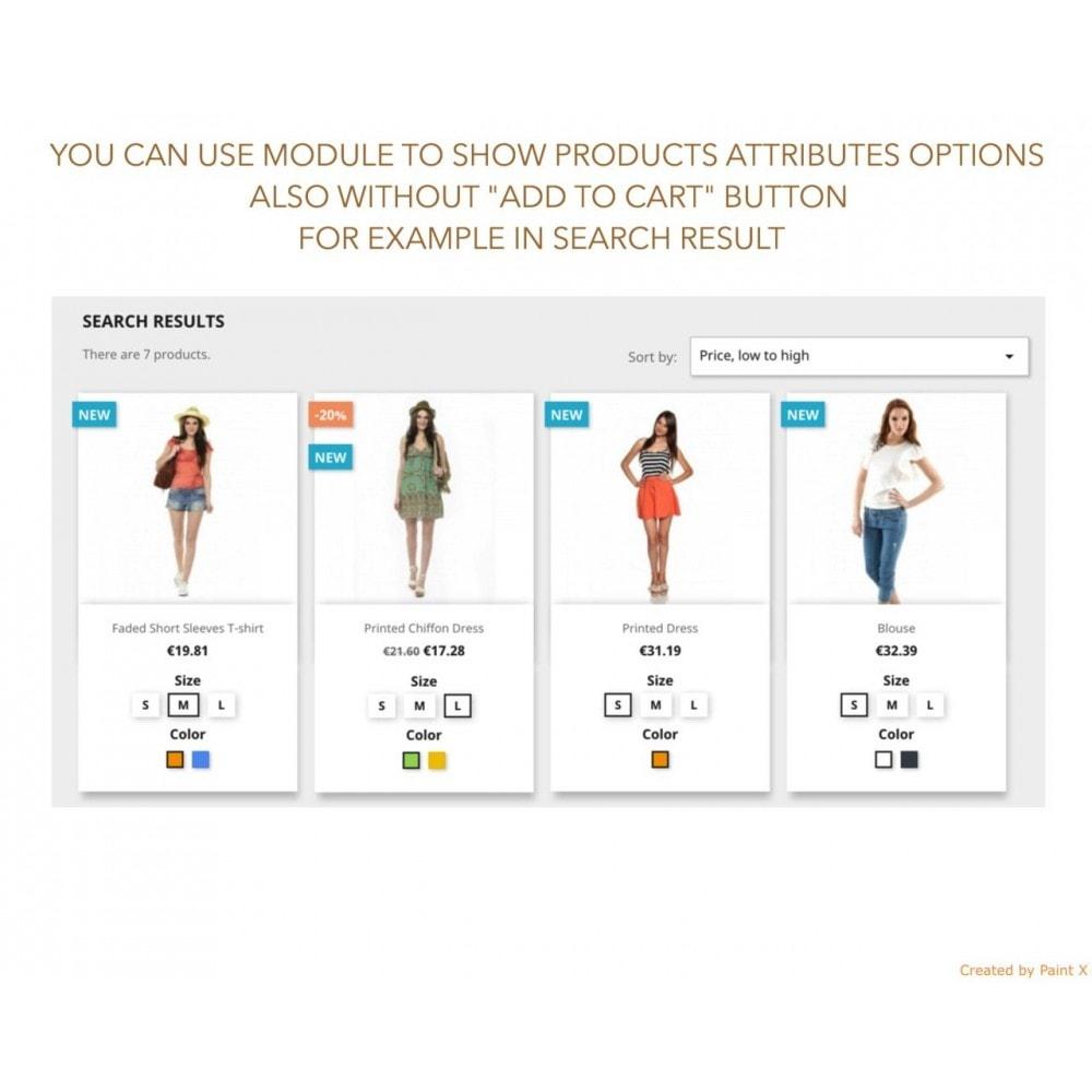 module - Вариаций и персонализации товаров - Просмотр атрибутов продукта в списке продуктов - 7