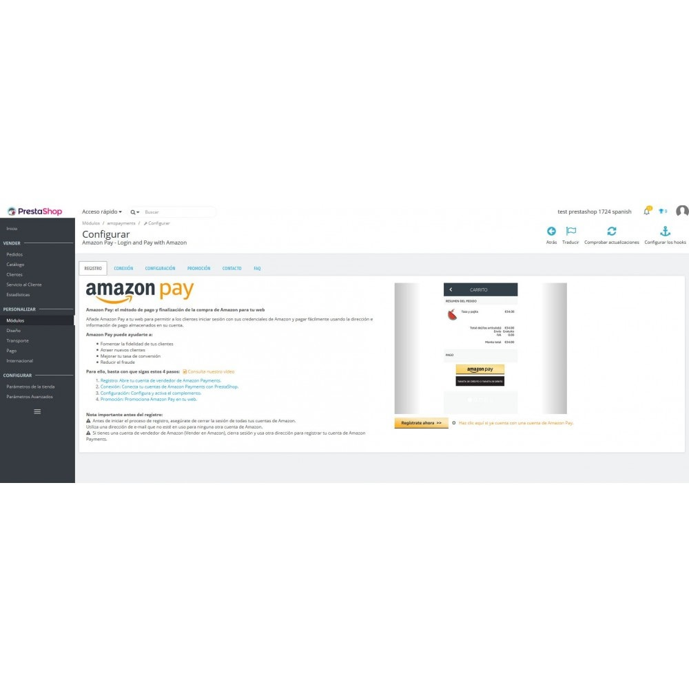 module - Pago con Tarjeta o Carteras digitales - Amazon Pay - 4
