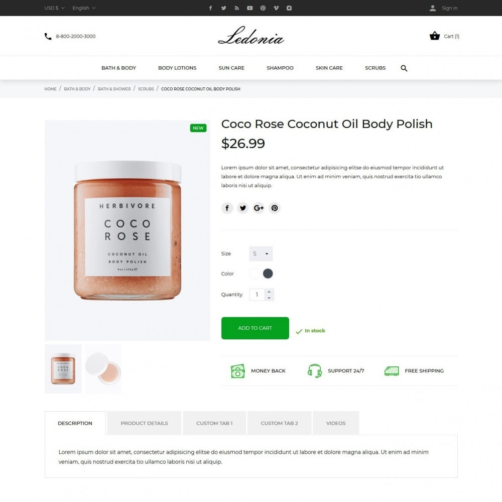 theme - Salute & Bellezza - Ledonia Cosmetics - 6
