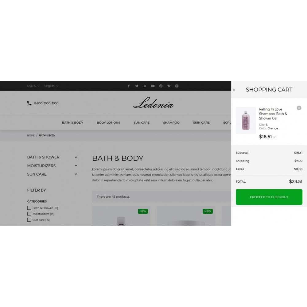 theme - Salute & Bellezza - Ledonia Cosmetics - 11