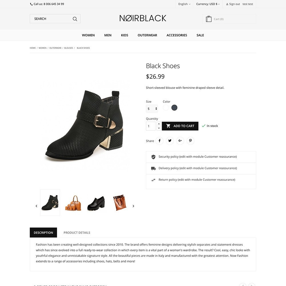 theme - Mode & Chaussures - Noirblack - 3