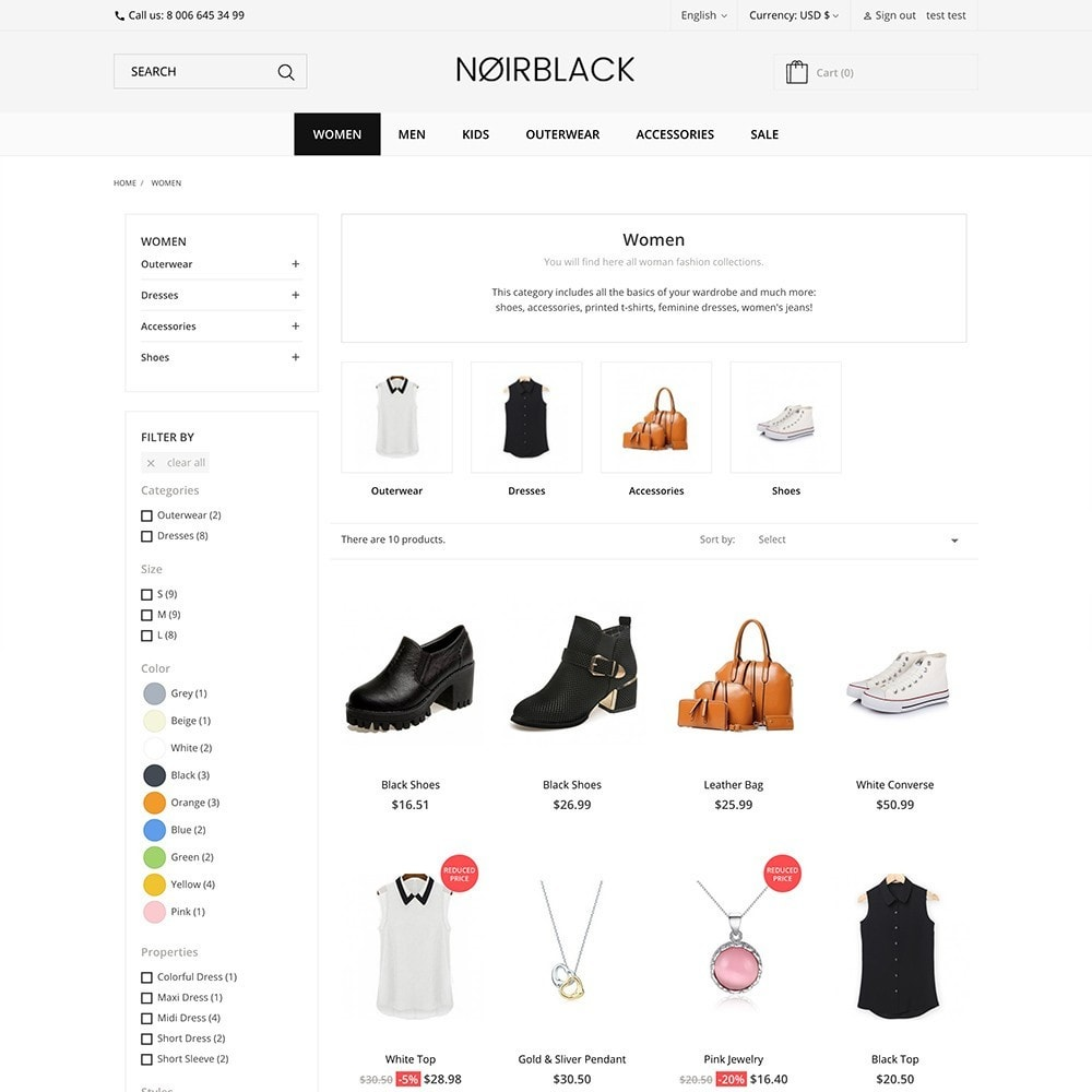 theme - Fashion & Shoes - Noirblack - 4