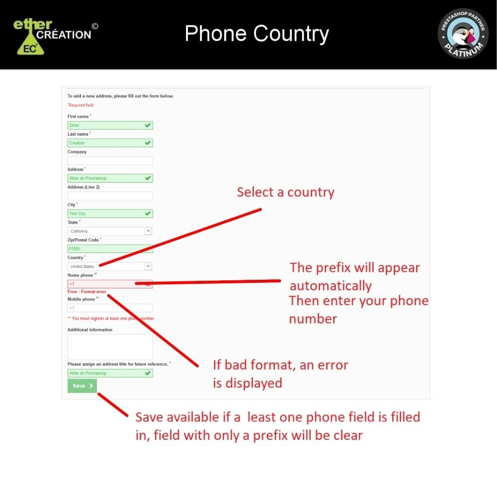 module - Lingue & Traduzioni - Convert/Verify international phone number - 2
