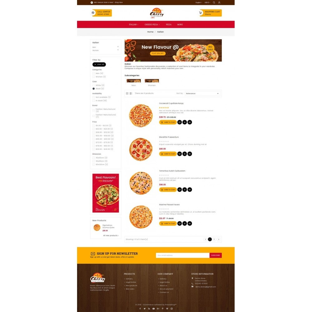 theme - Eten & Restaurant - Cheesy Pizza - Fast Food - 4
