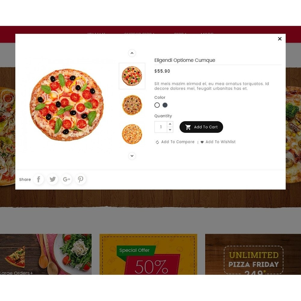 theme - Eten & Restaurant - Cheesy Pizza - Fast Food - 7