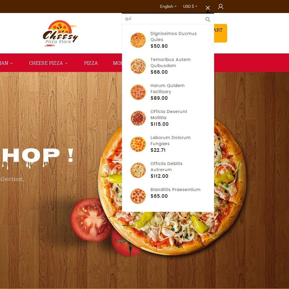 theme - Продовольствие и рестораны - Cheesy Pizza - Fast Food - 9