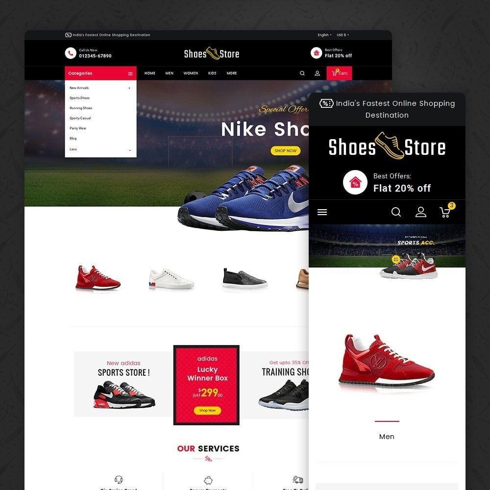 theme - Sport, Loisirs & Voyage - Sports Shoes Store - 1