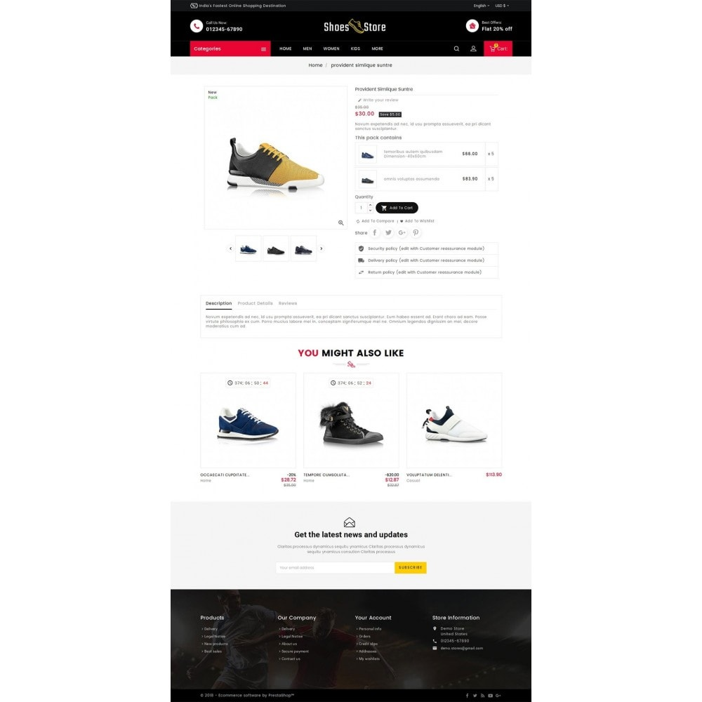 theme - Sport, Loisirs & Voyage - Sports Shoes Store - 5