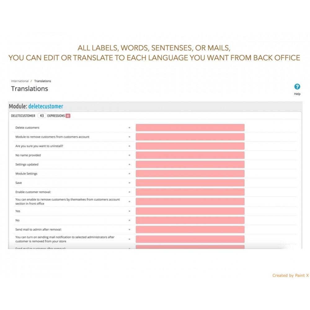 module - Wzmianki prawne - GDPR Usuwanie konta klienta z zaawansowanymi opcjami - 8
