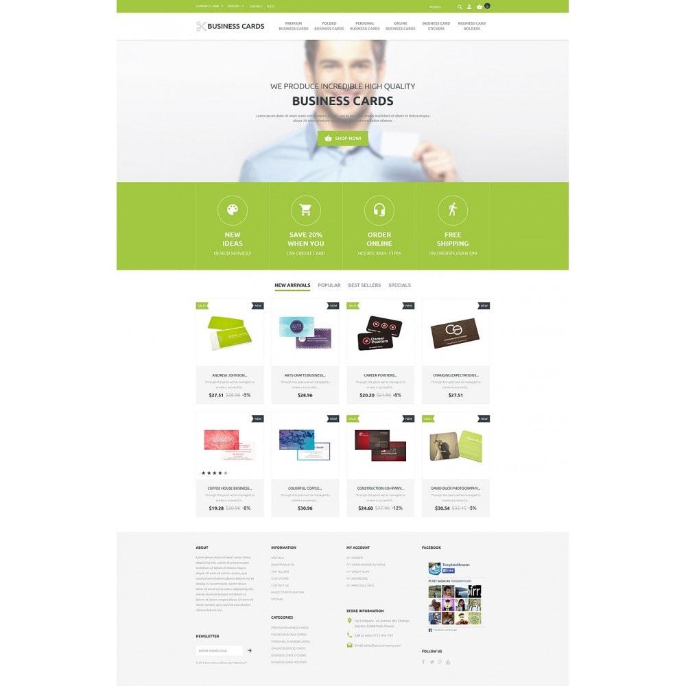 theme - Шаблоны PrestaShop - Business Cards Store - 2